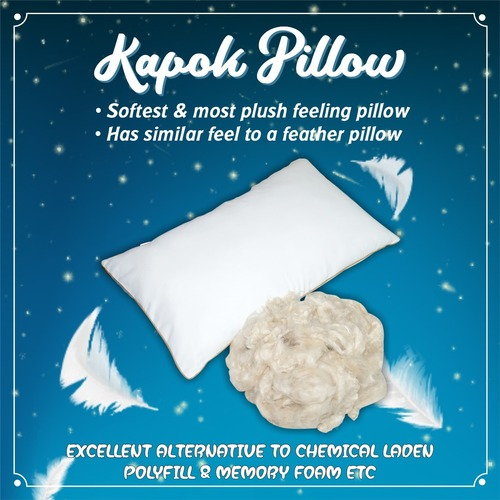 Pillow cover with kapok filling