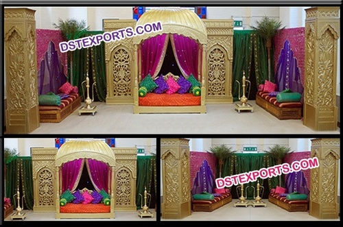 Ancient rajwada Fiber Wedding Stage