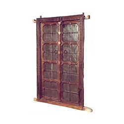 TEAK WITH IRON ETHNIC WOODEN DOOR