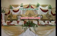 Muslim Wedding Gold Furniture Stage