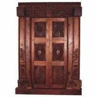 Teak Sunburst Door
