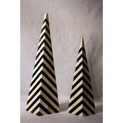 Horn Inlaid Pyramid Handicraft