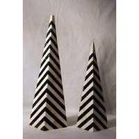 Horn Inlaid Pyramids