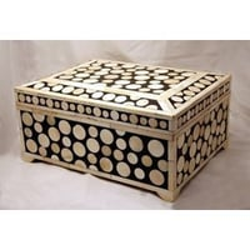 Camel Bone Inlaid Cash Box