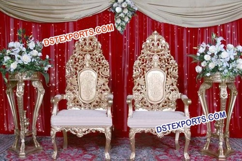 Muslim Wedding Heavy Carving Chairs Set