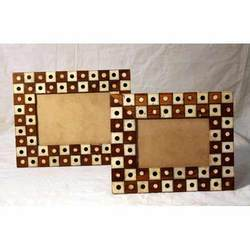 Camel Bone Inlaid Wooden Photo Frames