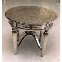 Metal Inlaid Side Table
