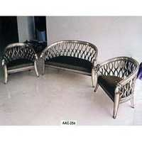 Metal Inlaid Sofa Set