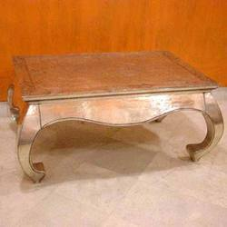 Silver Inlaid Coffee Table