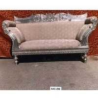 Metal Inlaid Chaise Lounge