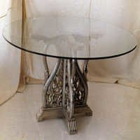 Metal Inlaid Breakfast Table