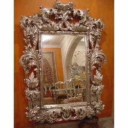 Designer Metal Inlaid Mirror Frame
