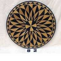 ROUND MARBLE TABLE TOP WITH INLAY