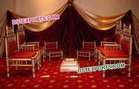 Indian Wedding Mandap Chairs Set