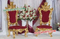 Wedding Golden High Back Chairs