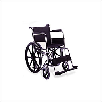 Steel Finish Wheelchair Folding Imported
