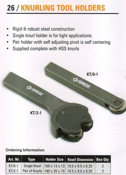 knurling tool holders