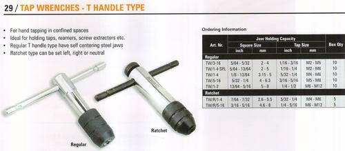 tap wrenches - T handle type