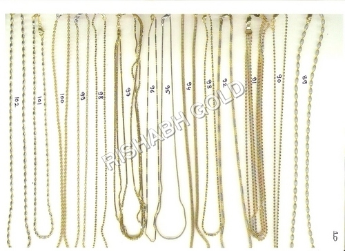 Simple Gold Chain Set