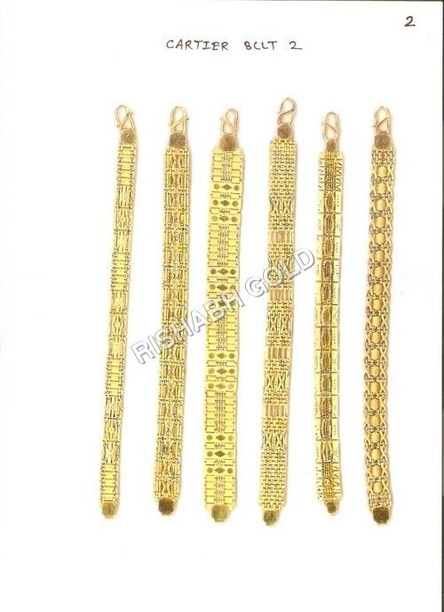 Mens Solid Gold Bracelets
