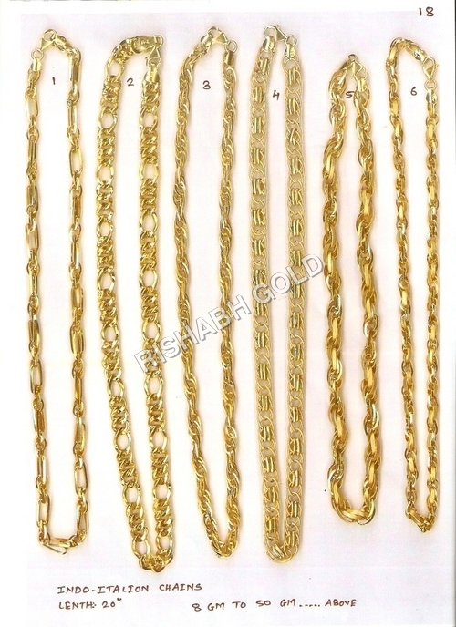 Indo Italian Gold Neck Chain