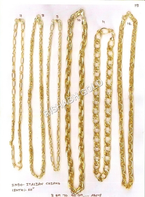 Heavy Gold Hollow Chain