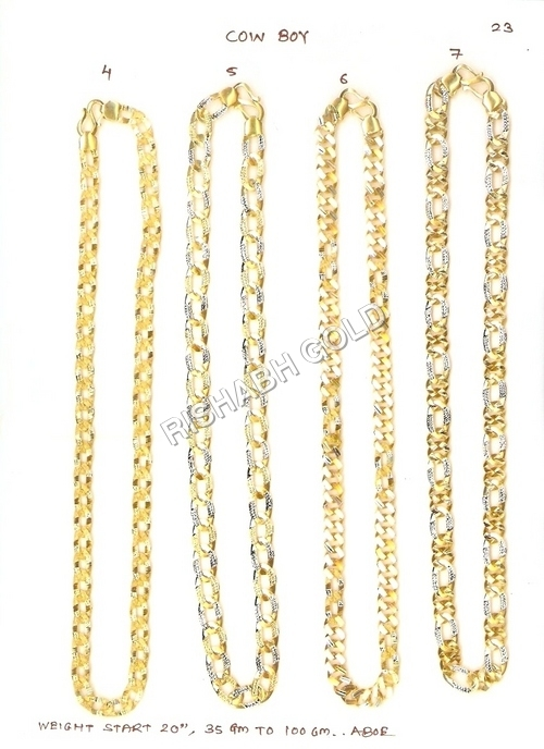 Gold Hollow Chain Set
