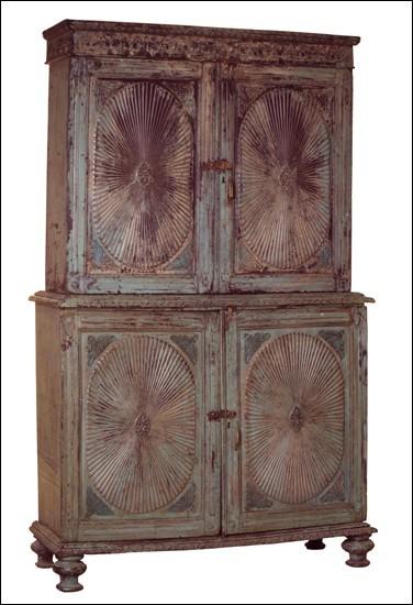 Wooden Sunburst Cabinet