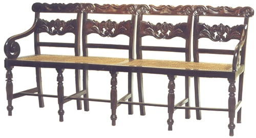ROSEWOOD INDO-PORTUGUESE 4-SEAT SETTEE