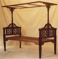 Teakwood / Rosewood Arts & Crafts Style Bed