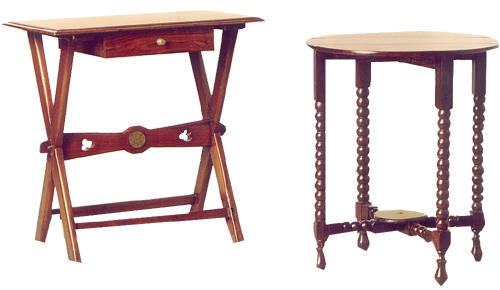 TEAK  ROSEWOOD SIDE TABLES