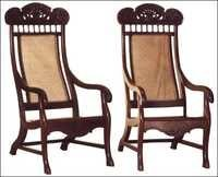 Rosewood Pair Of Indo-Portuguese Arm Chairs