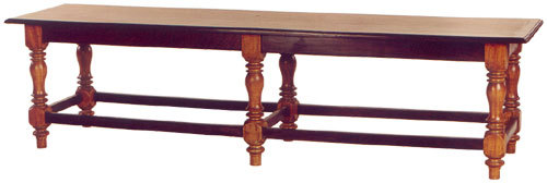SATINWOOD & ROSEWOOD SOUTH INDIAN BENCH (OLD)