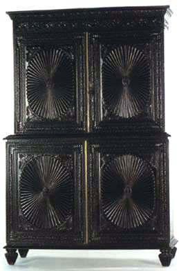 Rosewood Sunburst Cabinet (Old)