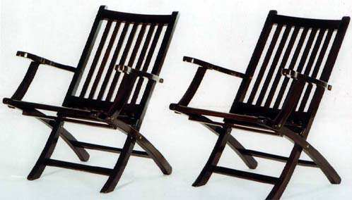 Rosewood Colonial Folding Chairs