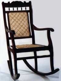 Rosewood Colonial Rocking Chair