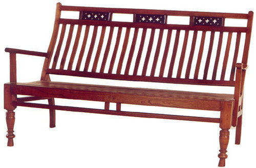 TEAK WITH ROSEWOOD TRIMMINGS BENCH (OLD)
