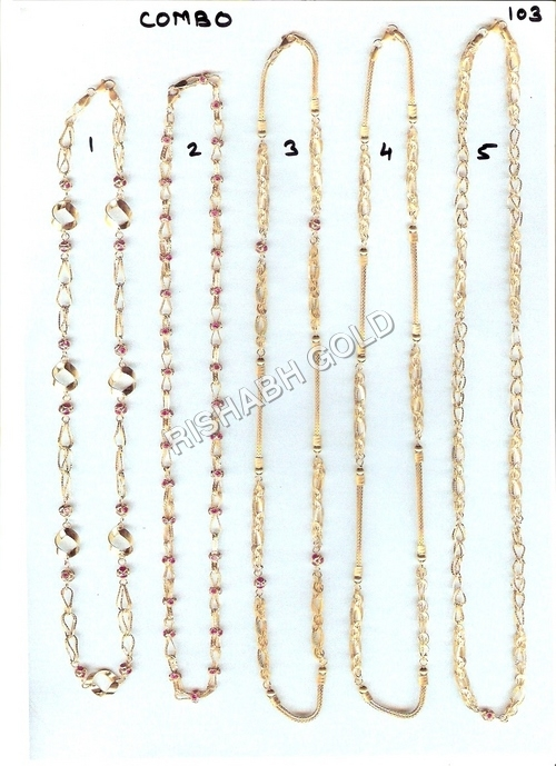 Pure Gold Hollow Chain Set