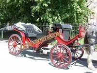 Red Black Victoria Carriage