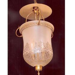 Glass Frosted Bell Jar Lantern