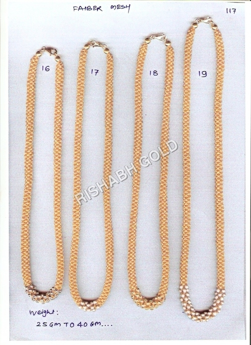 Beaded Diamond Gold Chains