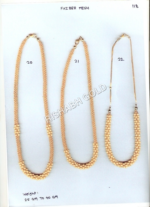 Faiber Mesh Gold Chain