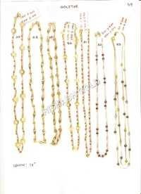Solitaire Gold Chain Set