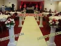 New Wedding Aisleway Roman Pillars
