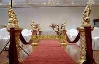 Wedding Aislewa Golden Pilar With Ganesha