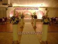 Wedding Aisleway Round Pillars