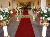 Wedding Walkway Roman Pillars