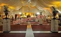 Wedding Aisleway Square Crystal Pillars