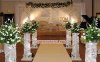 Wedding Aisleway Silver Crystal Pillars