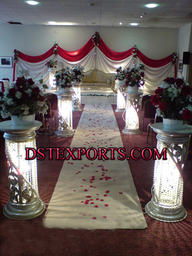 New Aisleway Wedding Crystal Pillars